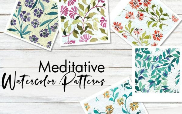 Meditative Watercolor Patterns with Femvisionary — SkillShare — Free download