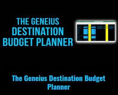 The Geneius Destination Budget Planner by Billy Gene