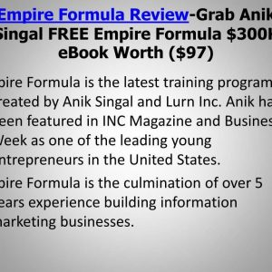 Anik Singal – Empire Formula 2020