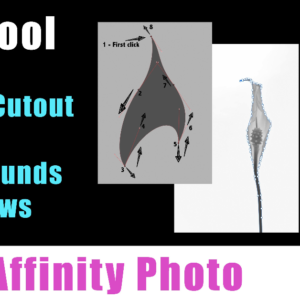 Affinity Photo – Pen Tool, Cutout, Selection, Adding a Background and Shadow with Tony Bramley