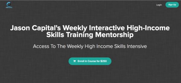 High-Income Weekly Skills Training by Jason Capital