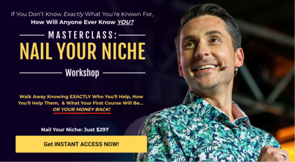 Nail Your Niche Masterclass by James Wedmore