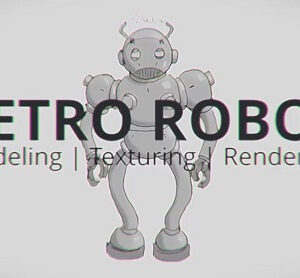 Retro Robot 3/3: Posing and Rendering in Blender 2