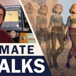 Animate a Professional Looking Walk in Maya