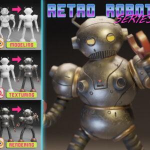 Retro Robot Series (Blender 2.9, Substance Painter) 2021 TUTORiAL