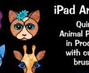 iPad Artistry Quirky Animal Portraits – with custom Procreate brushes
