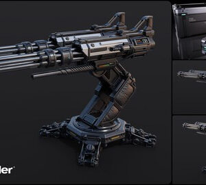 Blender Complete PBR Art Creation : Sci-fi Crate and Turret