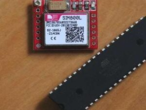 AVR ATMEL GSM GPS. Security alarm using SMS messages